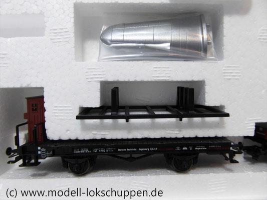 Märklin 45097 Wagen-Set - 6 Flachwagen und 1 Güterzug-BegleitwagenDRG Flugzeug-Transport Me 109    8