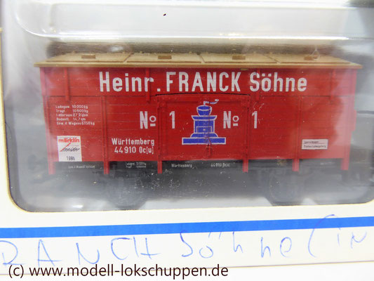 "46969 Märklin Insider Jahreswagen 1996 Klappdeckelwagen ""Heinr. FRANCK Söhne""    4"