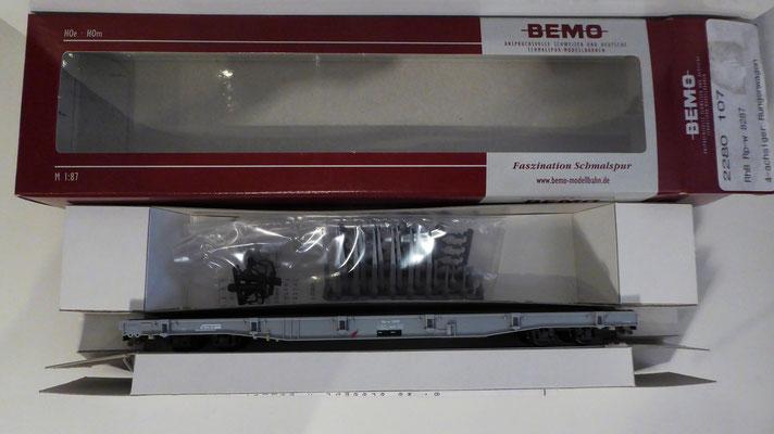 BEMO 2280 107 Rungenwagen RhB  Rp-w / 8287