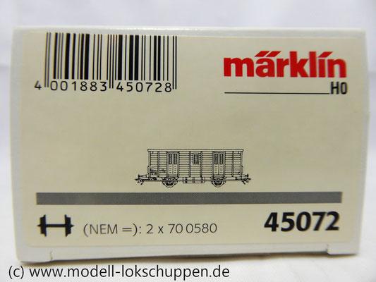 Märklin 45072  Werkstattwagen  Bahndienstwagen