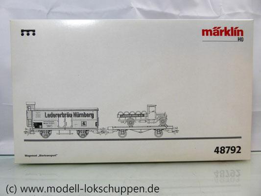 """Märklin 48792 DRG G-Wagen Set Biertransport Ep.2 """"Ledererbräu Nürnberg"""" MHI Sondermodell   3"""