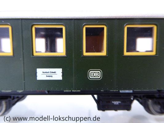 Märklin 43010 Nebenbahnwagen 2Kl. DB Epoche 3 grün H0     7