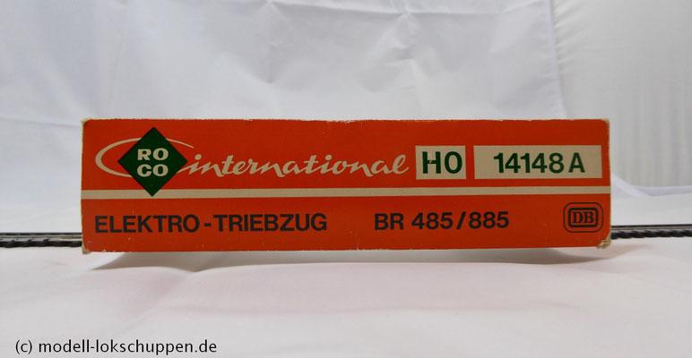 ROCO 14148 A DB Elektro-Triebzug BR 485/885 Epoche IV Spur H0 1:87 AC mit Digital Decoder  karton