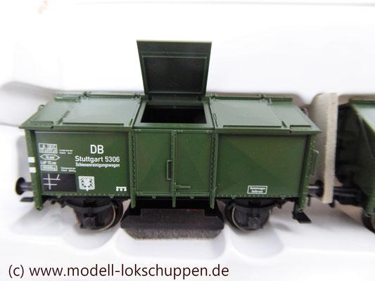 Märklin 46010  Schienenreinigungswagen Klappdeckelwagen-Paar KK 15    4