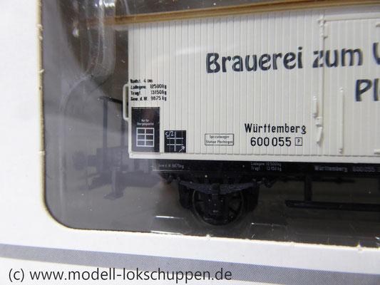 K23 Märklin 48282 Bierwagen Brauerei Zum Waldhorn Plochingen Württemberg    5