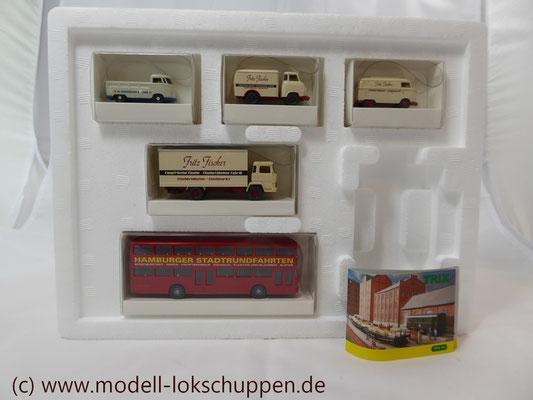 """Trix66158 Zubehörset """"Hamburger Autos"""" 5tlg. Ep. 5x WIKING zum Thema """"Tor zur Welt""""  3"""