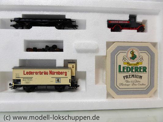 """Märklin 48792 DRG G-Wagen Set Biertransport Ep.2 """"Ledererbräu Nürnberg"""" MHI Sondermodell   5"""