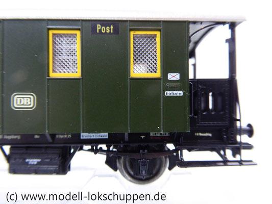 Märklin 43030 Nebenbahnwagen Post und Gepäckwagen der DB H0   6