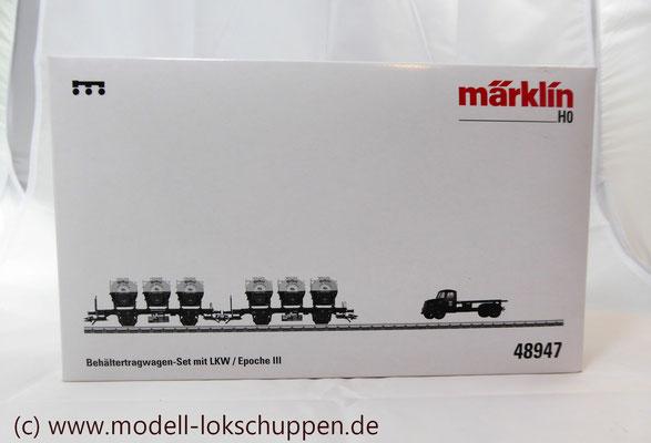 Märklin 48947  Tragwagen-Set mit Birkel pa-Behältern   2
