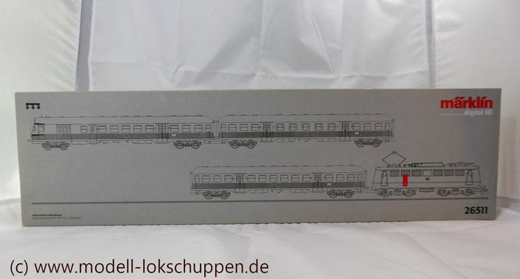 """BR 140 DB Wendezug im Nahverkehr """"Silberlinge"""" / Märklin 26511   1"""