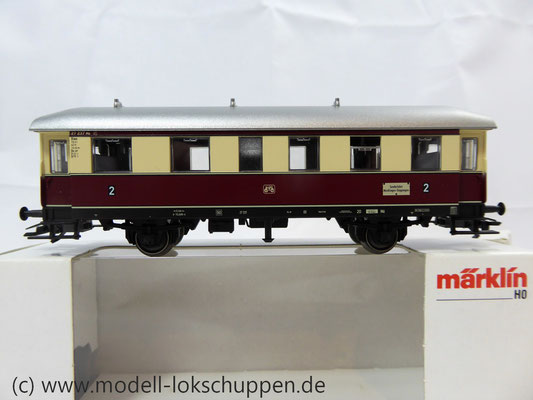 Märklin 43136 Nebenbahnwagen der DB- Exklusivausführung Göppingen Epoche IV     2