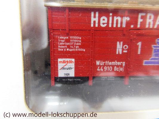 "46969 Märklin Insider Jahreswagen 1996 Klappdeckelwagen ""Heinr. FRANCK Söhne""    5"