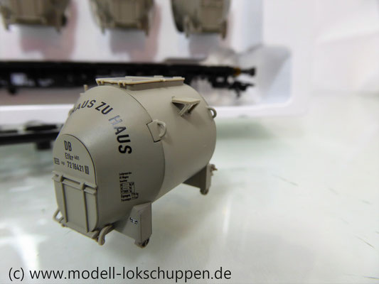 Märklin 48533 Behältertragwagen Lbgis 598  mit pa-Behältern DB