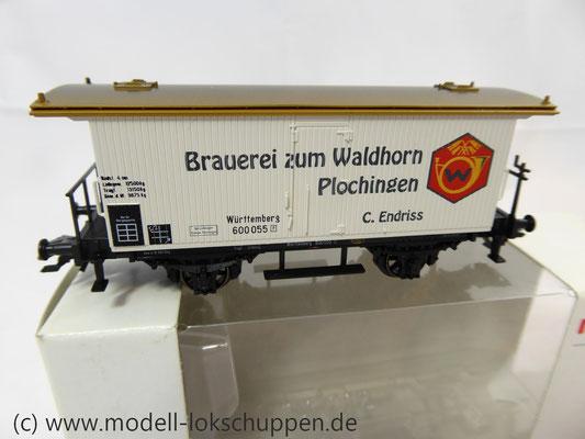 K23 Märklin 48282 Bierwagen Brauerei Zum Waldhorn Plochingen Württemberg    1