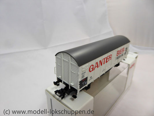 "Märklin 46201 Insider-Wagen 2004: Gedeckter Güterwagen ""Ganter Bier""     7"