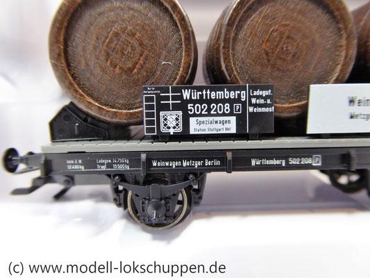 Märklin 46743  Weinfasswagen mit Bremserhaus der K.W.St.E.      4