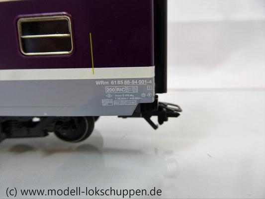Märklin 42171  Euro-City-Wagen Mitropa Restaurantwagen IV WRm der SBB    6