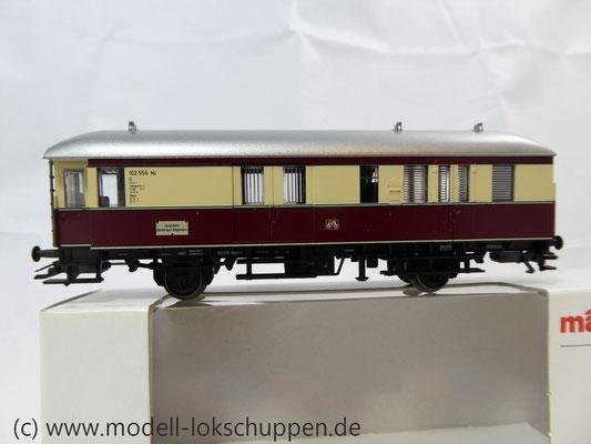 """Märklin 43151 / Einheitsnebenbahnwagen Postwagen Pwi der DB Sonderfahrt """"Nördlingen - Göppingen""""    2"""