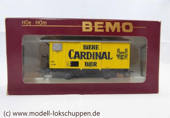 Bemo 2274 323 - Werbewagen - Güterwagen - Gk 503 - Cardinal Biere - MOB - H0m