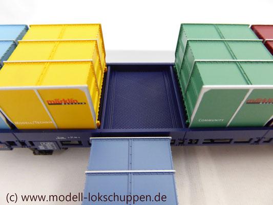 Märklin Magazin-Jahreswagen H0 2005 - Post-Behälter-Tragwagen Post 2-t/13 / Märklin 48505