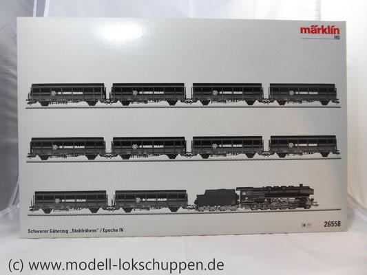Märklin 26558 Einmalige Serie BR 44  DB mit schwerem Güterzug Stahlröhren    2