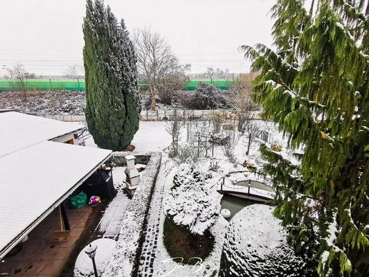 """18.01.""""verschneite Garten""""!"""