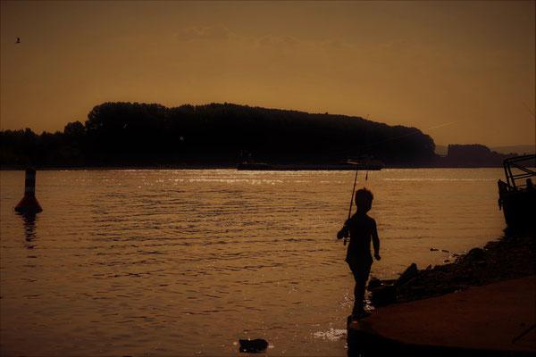 05.08...NR-Sunset Vater Rhein 28°C