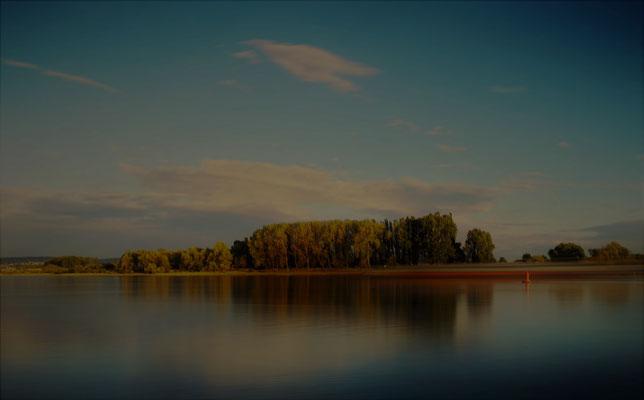 20.10...NR..Dämmerung auf Rhein