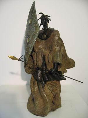 LE CHASSEUR AFRICAIN   Bronze et Patine Fonderie DELVAL             Reste 4 tirages      possibilité de commande