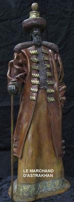 Le marchand d'Astrakhan - Bronze et Patine Fonderie Delval   N° 1/8    vendu          Reste 11 tirages   à commander