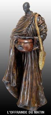 L'offrande du matin - Bronze et Patine Fonderie Delval   N°5/8   Reste 7 tirages