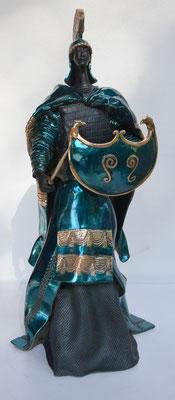 LE GUERRIER ROMAIN Bronze Fonderie DELVAL     Patine Laque  Paul BECKRICH     HT 59  -  POIDS 20 0 22 KG