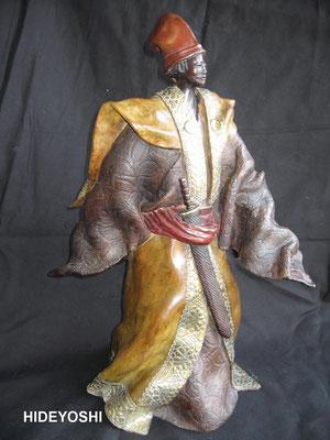 Hideyoshi - Bronze et patine Fonderie Delval                             N° 4/8    Reste 6 tirages