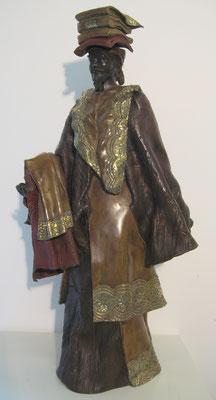 MARCHE DE NOUAKCHOTT            Bronze et patine Fonderie DELVAL  N° 2/8  et N° 4/8   Reste 8 tirages