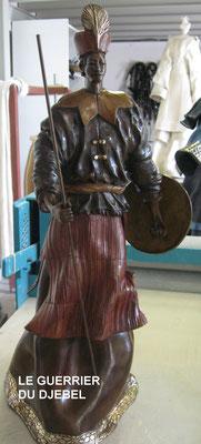 Le guerrier du Djebel - Bronze et Patine Fonderie Delval      Reste 6 tirages         possibilité de commande