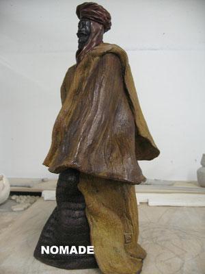 LE NOMADE   Bronze et patine Fonderie Delval