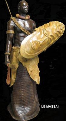 Le Massaï - Bronze et Patine Fonderie Delval   N° 6/8   Reste 4 tirages