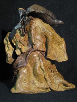 L'IMPOT DU PEUPLE   Bronze et Patine Fonderie DELVAL     Reste 3 Tirages         possibilité de commande