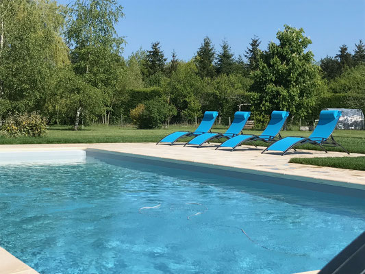 La piscine, chambre d'hôtes, Cheverny, La Levraudière