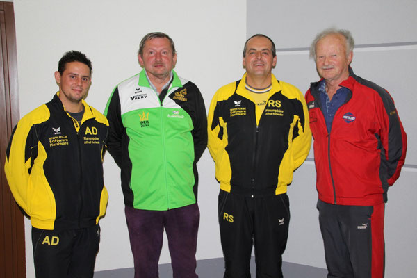 3. Platz: Alexander Dorn, 1. Platz: Johann Engelmayer, 2. Platz: Reinhard Schweitzer, 4. Platz: Willibald Pöll
