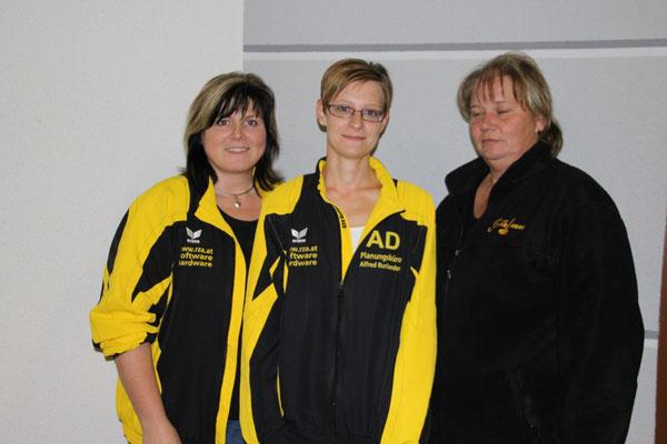 2. Platz: Margit Zellhofer, 1. Platz: Bianca Dorn, 3. Platz: Helene Fandl
