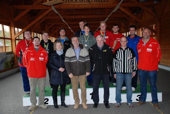 Alle Teilnehmer mit Betreuer und Präsident des NÖEV Hr. Alfred Weichinger