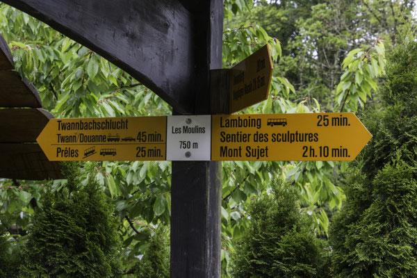 Am Eingang zur Twannbachschlucht