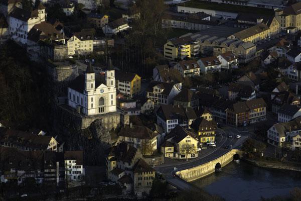 Festung, Kirche Aarburg und Woog