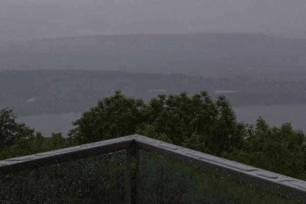Trübe Aussicht über den Bielersee -