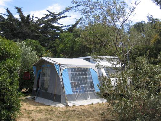 Camping au Brusc : Emplacement Mélia