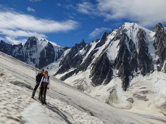 Sur le haut du Glacier des Améthystes