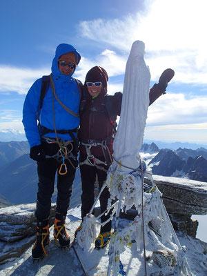 C'est fait ! Françoise et Dom au sommet !