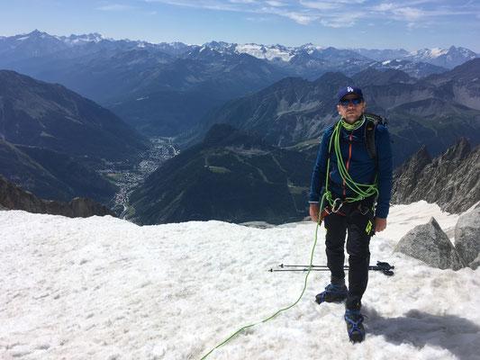 Au Col de Toule avec Courmayeur en vallée