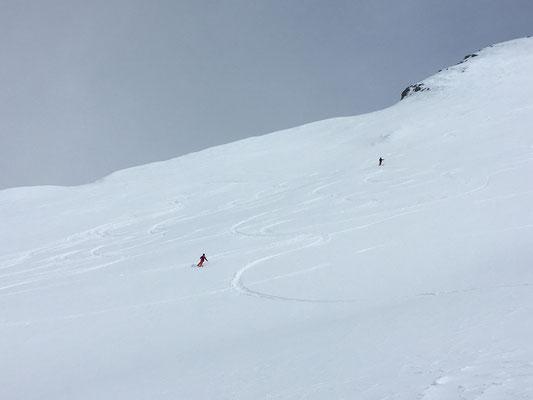 Du super ski dans le Couloir Weiss !
